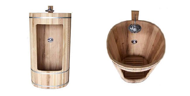 Outdoor Barrel Showers